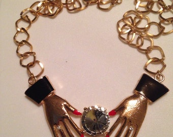 Gypsy Fortune Teller crystal necklace