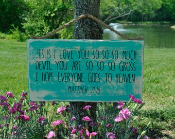 Kids Prayer Hanging Plaque -Matthew 21:15