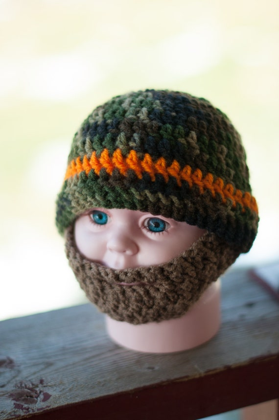 Crochet Beard Hat With Detachable Beard By Theresascrochetshop