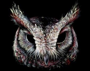 """Messenger 2 - Original black velvet painting 12"""" x 12"""""""