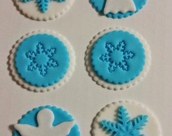 Winter cupcake toppers