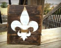 Rustic Fleur De Lis Pallet Sign, Wood Fleur De Lis Sign, Fleur De Lis Art Decor, Louisiana Decor, Rustic Pallet Sign, Rustic Home Decor