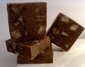 Coffee Soap , Handmade Soap, Natural Soap, Cold Process Soap, Exfoliating Soap, Almond Soap,  All Natural Soap, Shea Butter Soap,