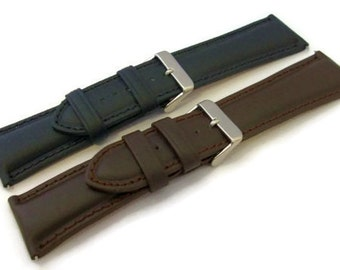 Extra Wide Soft Calf Padded Leather Watch Strap / Watch Band 24mm 26mm 28mm 30mm