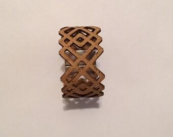 Geometric Cork Cuff Bracelet