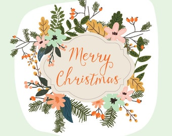 Holiday Flowers - PNG Files - Bouquets - Clip art - Christmas