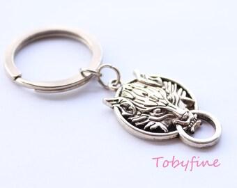 wolf head keychain, Final Fantasy 7 keychain