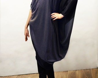 65% off sale onTwo-toned Grecian look, viscose and merino wool type jersey, dress.