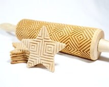 SQUARES - Embossing rolling pin for cookies