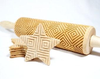 Quadrate - Prägung Nudelholz für cookies