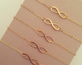 Infinity Charm Bracelet - Available in Gold or Silver Plated