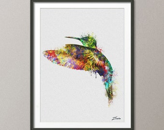 Bird watercolor poster bird print watercolor bird art wall hanging hummingbird poster watercolor decor painting birds decor A120-2