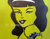 "Downloadable Digital Original Art Rockabilly ""Mom's Favorite"" by M. Bianchi"