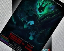 Thresh Poster //League of Legends// Digital File Instant Download