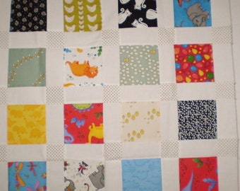 100% cotton kids prints small quilt top