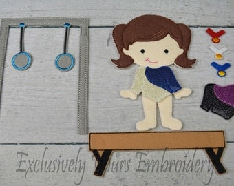 Shai Non Paper Doll with Gymnastics Set