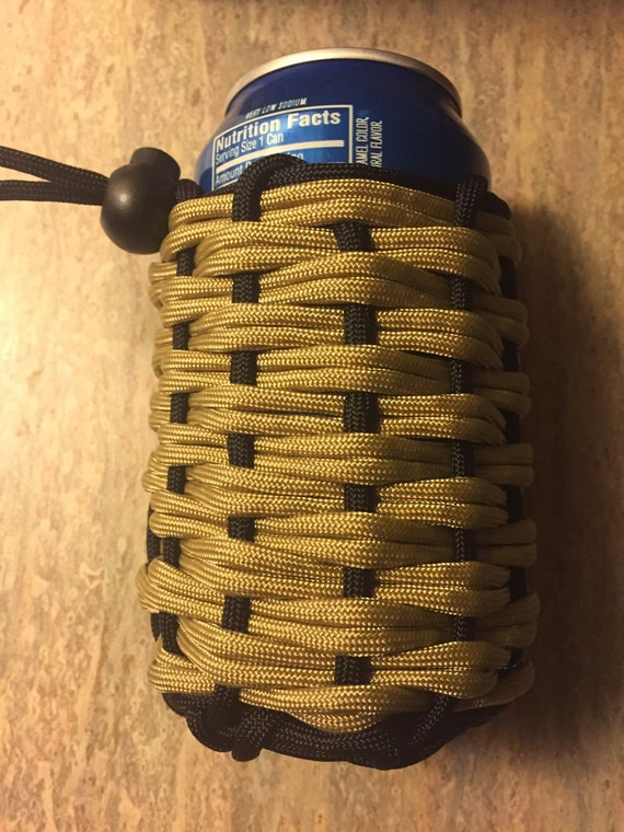 Paracord koozie pouch in two different colors or by for Paracord koozie how to make