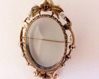Locket brooch circa 1850