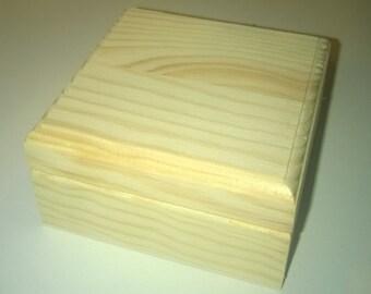 Wooden trinket box with custom top print