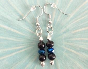 """Shop """"thin blue line jewelry"""" in Earrings"""