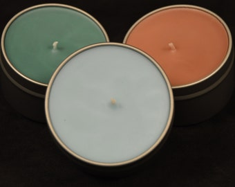 Scented Soy Travel Candle with Cotton Wick, 6oz Tin