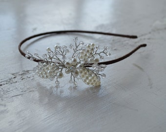 Simple and elegant bridal side tiara