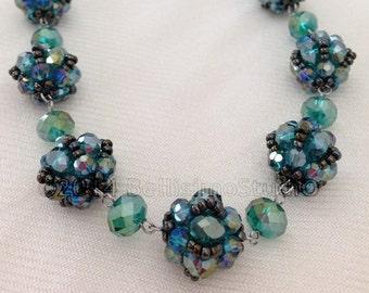 Beaded Ball Necklace/ Bead weaving Jewelry