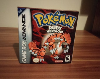 Game Boy Advance Pokemon Ruby - Repro Box with Insert NO GAME Included