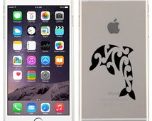 Iphone 6, 6 Plus, iphone 5s, iphone 5c, Dolphin On Glossy Transparent Clear Candy Skin Cover