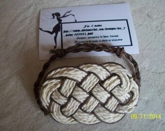 "Two-tone bracelet for men-marine knot ""Packing"""