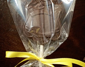 Chocolate Police Badge Lollipop