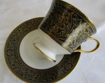 Sango China Richelieu #3756  Footed Cup & Saucer Set MINT CONDITION  Sango Replacement China