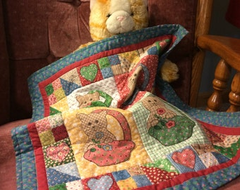 Doll Quilt, Cats