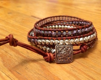 Leather wrap bracelet, Horse Lover Gift, Western Jewelry, Riding Gift, Rustic Bling to Go With Everything!