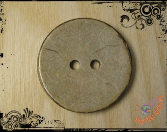 Coconut buttons mm.37, 2 holes