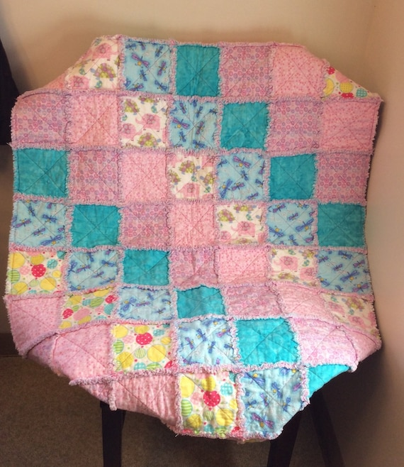 Crib Quilt Size: Baby / Toddler Rag Quilt Crib Size Very By GrandmasSewingShack