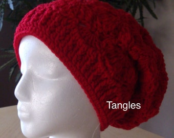 Ladies Butterfly Stitch Slouch Hat * Made to Order