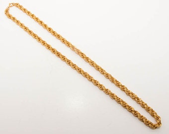 Vintage gold tone chain necklace 7270 length 63cm.
