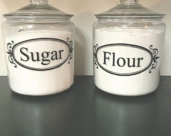 Flour, Sugar vinyl deccals