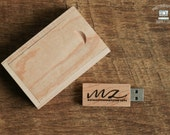 Wood/Wooden USB Flash Drive 8GB Capacity with Magnet Top