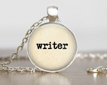Writer Necklace Type Style Necklace Sayings Jewelry Quote Necklace Geekery