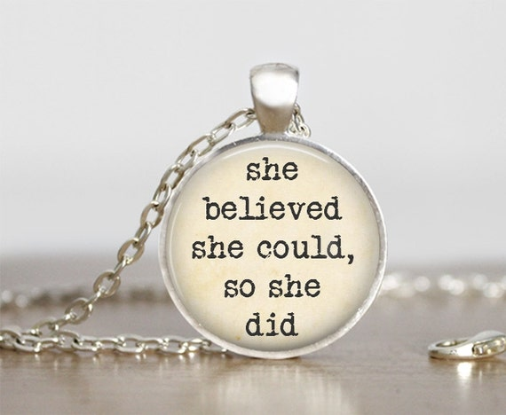 she believed she could so she did necklace let it go necklace