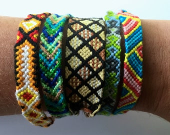 Customized Friendship Bracelet, Personalized Bracelet, String Bracelet with Pattern, Best Friend Gift, Stackable, Custom Friendship Bracelet