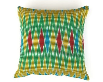 LIKA LIKU YELLOW // Ikat Cushion Cover, Handwoven Cushion Cover, Geometry Pillow, Ikat Pillow, Home Decor, Interior Styling, Bohemian 50x50