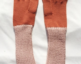 Creamsicle Knit Gloves