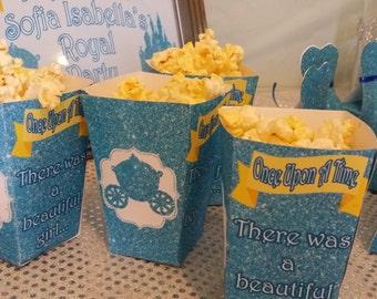 Princess Party, Princess Birthday, Princess Party Decorations, Princess Popcorn Box, Princess Party, Princess Birthday Popcorn Box