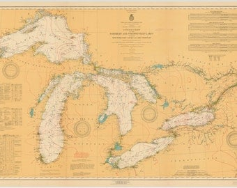Great Lakes Map 1921