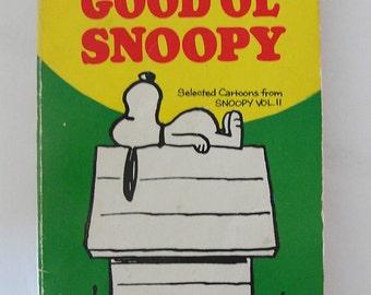 1967 Peanuts Good Ol' Snoopy Paperback Book
