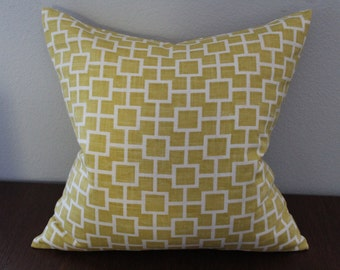 Yellow, Geometric, 20x20 Pillow cover, Throw Pillow, Pillow Case,