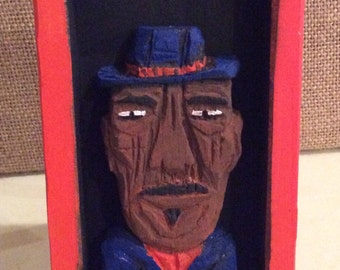 Blues Man Relief with Easel